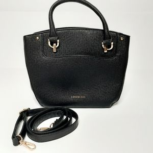 Black London Fog Crossbody Handbag